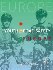 E U R O P E YOUTH ROAD SAFETY - Injury Observatory for Britain ...