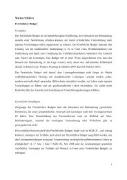 Markus Schäfers Persönliches Budget ... - Inklusion Lexikon