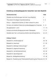 Erstellung sonderpädagogischer Gutachten nach dem BayEUG