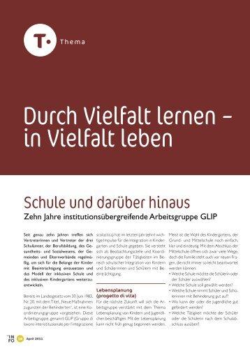 Thema - Kindergarten und Schule in Südtirol