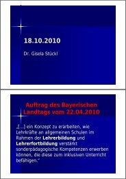 Auftrag des Bayerischen Landtags vom 22.04.2010 - Initative ...