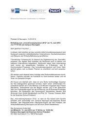 Potsdam & Neuruppin, 14.05.2012 Einladung zum ... - InKom