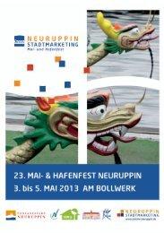 Programm-Flyer Mai- und Hafenfest 2013 - InKom