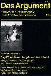 Begriffskarrieren: Subjekt und Geschlecht - Berliner Institut für ...