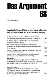 Ausländerbeschäftigung und Imperialismus. Die Arbeiterklasse im ...