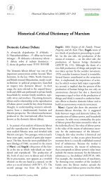 Historical-Critical Dictionary of Marxism