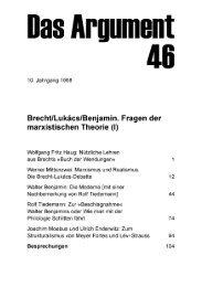 Brecht/Lukács/Benjamin. Fragen der marxistischen Theorie (I)