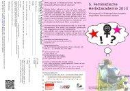 5. Feministische Herbstakademie 2013