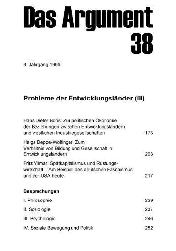Probleme der Entwicklungsländer (III) - Berliner Institut für kritische ...