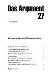 Massenmedien und Manipulation (II) - Berliner Institut für kritische ...