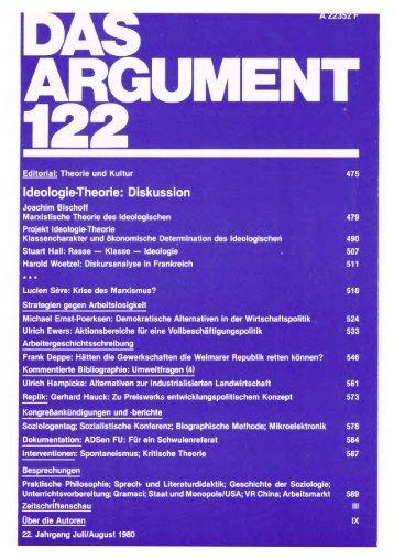 das argument - Berliner Instituts für kritische Theorie (InkriT)