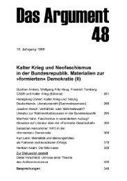 Kalter krieg und Neofaschismus in der Bundesrepublik