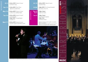 Autumnal Music Events Programme 2010 | PDF - Charterhouse