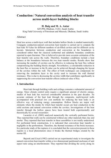 Conduction / Natural Convection Analysis of heat ... - Eurotherm 2008