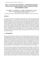 heat and mass transfer in a composite bed of ... - Eurotherm 2008