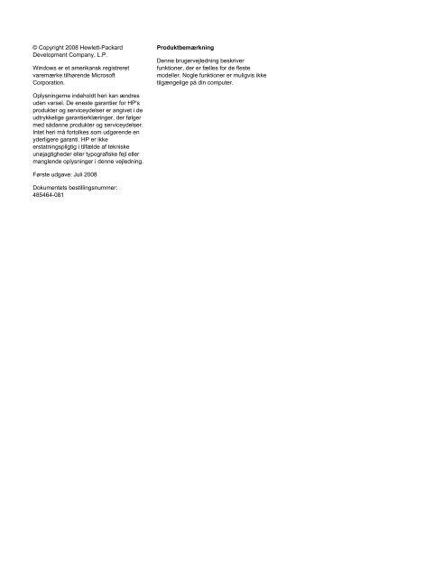 Pegeredskaber og tastatur - Hewlett Packard