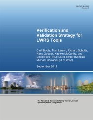 Verification and Validation Strategy for LWRS Tools - Idaho National ...