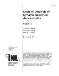 Decision Analysis of Dynamic Spectrum Access Rules