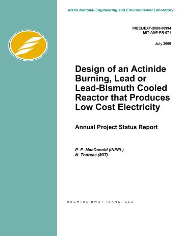 Design of an Actinide Burning, Lead or Lead-Bismuth Cooled ...