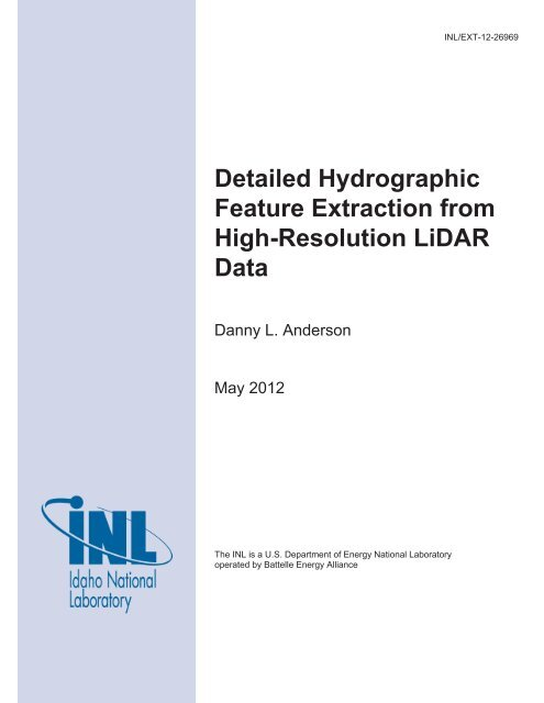 Detailed Hydrographic Feature Extraction from High-Resolution ...