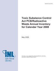 Toxic Substance Control Act PCB/Radioactive Waste Annual ...