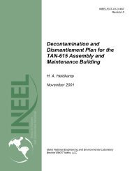 Decontamination and Dismantlement Plan for the TAN-615 ...