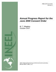 Annual Progress Report for the June 2000 Consent Order MT ...