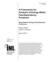 A Framework for Analysis of Energy-Water Interdependency Problems