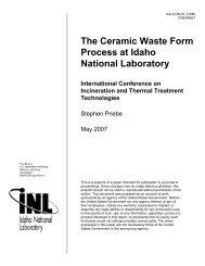 The Ceramic Waste Form Process at Idaho National Laboratory