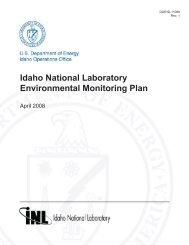 Idaho National Laboratory Environmental Monitoring Plan