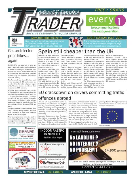 July August 2011 The Trader Spain