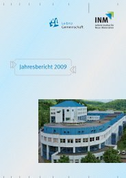 Jahresbericht / Annual Report 2009 INM