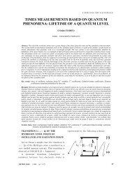 Cristian Florea, Times measurements based on quantum ...