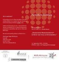 """""""WiPs Wittlich – Wissenschaft trifft Praxis"""" 2010 & 2012... - Inmit"""