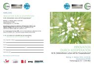 INNOVATION DURCH KOOPERATION - Innovation Network Austria