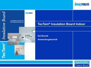 Innendämmplatte TecTem® Insulation Board Indoor ...