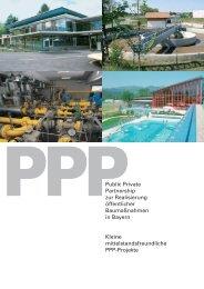 Kleine mittelstandsfreundliche PPP-Projekte - Bayerischer ...