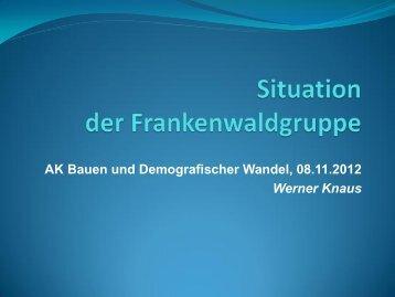 Situation der Frankenwaldgruppe - Bayern