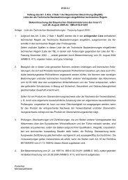 Liste der Technischen Baubestimmungen – Fassung August 2005