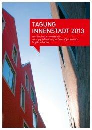 Zur Dokumentation der Tagung Innenstadt 2013 - Netzwerk ...