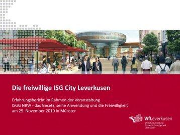 Die freiwillige ISG City Leverkusen - Netzwerk Innenstadt NRW