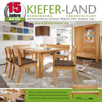 399.- Kiefer massiv - Kieferland
