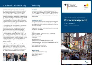 Zentrenmanagement - Netzwerk Innenstadt NRW
