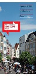 Programm der Tagung - Netzwerk Innenstadt NRW