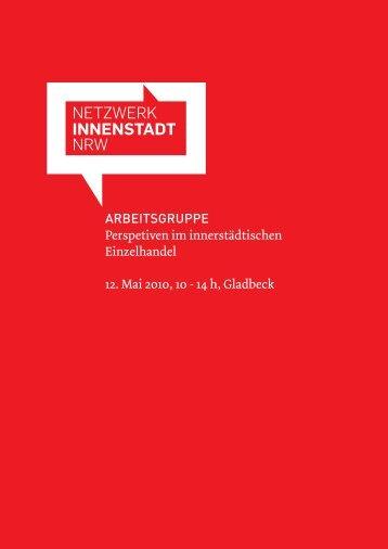 Hintergrund (Einladung / Programm) - Netzwerk Innenstadt NRW