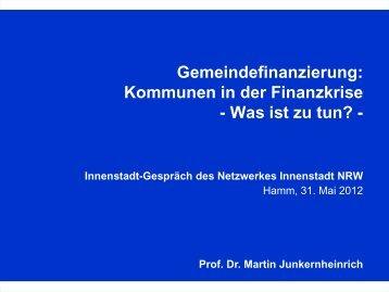 Download des Vortrages von Prof. Dr. Martin Junkernheinrich