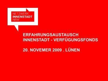 Präsentation Karl Jasper, MBV NRW - Netzwerk Innenstadt NRW