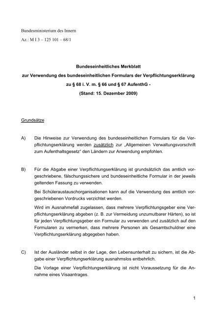 Bundeseinheitliches Merkblatt Deutsch