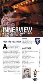 Michaelmas 2007 - The Honourable Society of the Inner Temple
