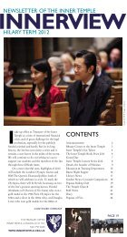 Hilary 2012 - The Honourable Society of the Inner Temple